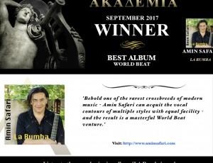 Akademia Award – Best Album – World Beat – La Rumba